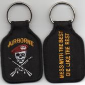 AIRBORNE MESS WITH THE BEST DIE WITH THE REST KEY FOB (1)